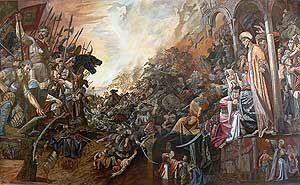 Defence of the Kazan against Ivan theTerrible armies (Deification)
