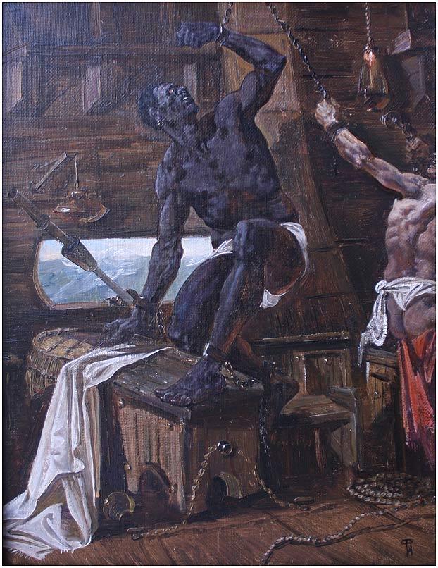 Lady Bondage Painting By Eddy Avila